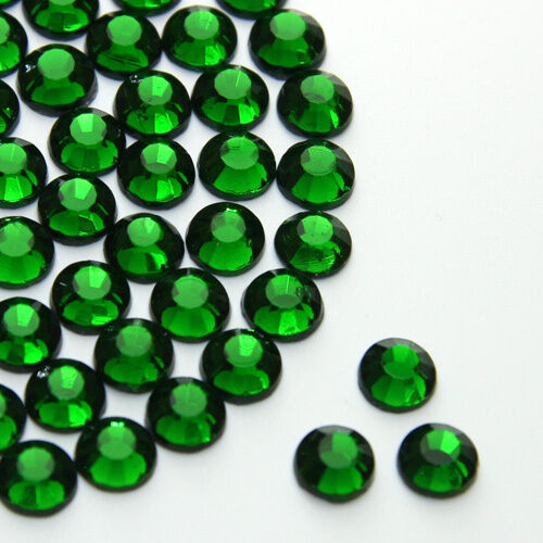 Diamante Me Emerald Green Flat Back Loose Rhinestones Gems 2,3,4,5,6mm AAA