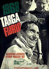 VINTAGE 1968 PORSCHE TARGA FLORIO MOTOR RACING A4 POSTER PRINT