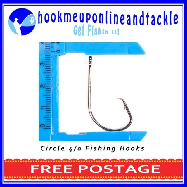 50 x 4/0 Circle / Mustu Fishing Hooks Sport Tackle Bulk Octopus Beak
