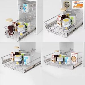 Einbauschublade Küche | 2 X Einbauschublade Korbauszug Schrankauszug Teleskopschublade Kuche