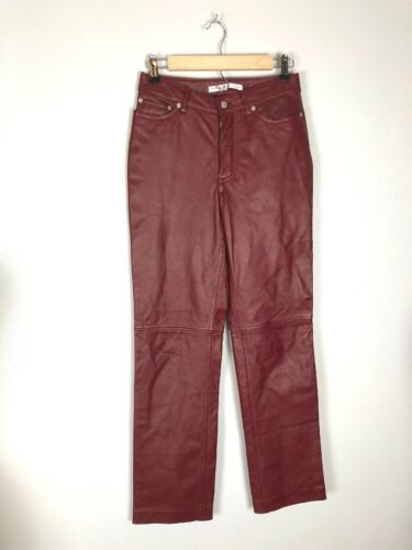 Tommy Hilfiger Red Leather Pants, Size 2