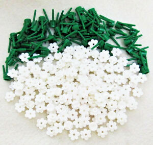 100 new white lego flowers bulk brick flower lot wstems plant image is loading 100 new white lego flowers bulk brick flower mightylinksfo