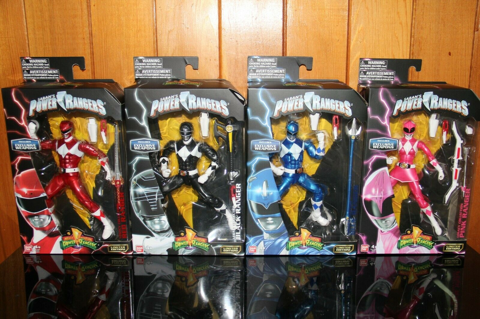 Mighty Morphin Power Rangers Metallic Rangers Legacy Collection All 6