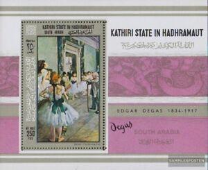 Neuf Avec Gomme Originale 1967 Modern Techniques Painstaking Aden complète Edition Kathiri State Block19a