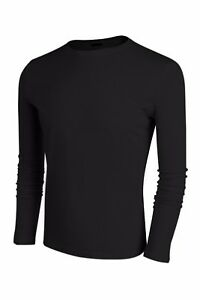 Mens-Slim-Fit-Casual-Shirt-T-Shirt-Long-Sleeve-Cotton-Men-Pullover-T-Shirts-Tops