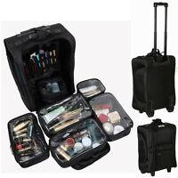 Pro 7in1 Artist Makeup Trolley Suitcase Wheel Cosmetic Organizer Lightweight Box