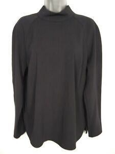 BNWOT-WOMENS-NEXT-BLACK-HIGH-NECK-LONG-SLEEVE-SMART-CASUAL-WORK-TOP-SIZE-UK-16