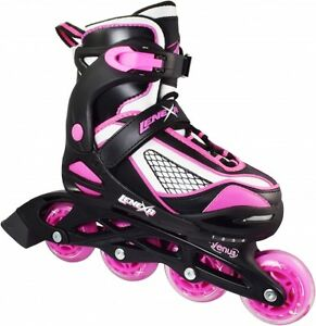 Pink-amp-Black-Lenexa-Venus-Adjustable-Kids-Indoor-Outoor-Inline-Roller-Skates