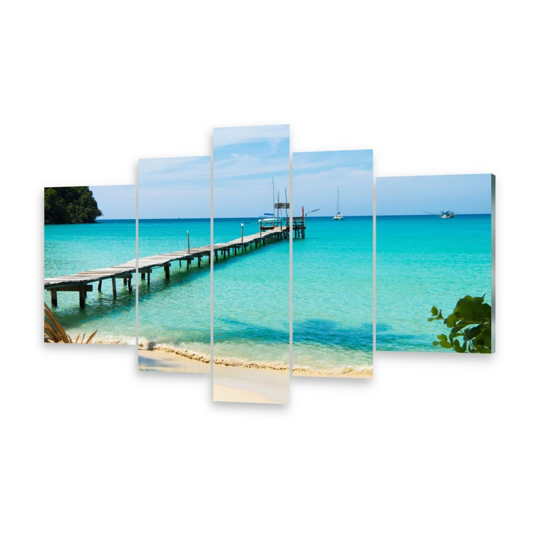 Mehrteilige Bilder Glasbilder Wandbild Blaues Meer