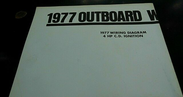 1977 Omc Outboard Wiring Diagrams Poster 4 6 9 9 15 Hp