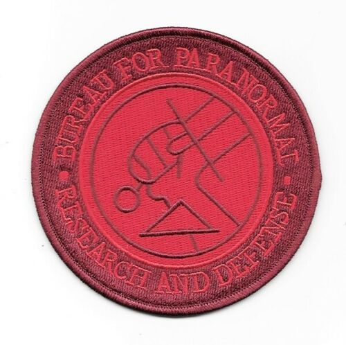"""Hellboy Bureau For Paranormal Research and Defense Agent Embroidered 4/"""" Patch"""