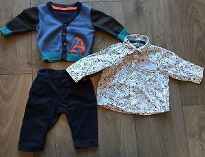 d67261f1a M S AUTOGRAPH BABY BOYS CARDIGAN   SHIRT   TROUSERS 3 PART SET UP TO ...