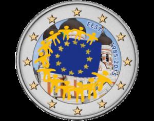 Pièces & Monnaies Estonie 2 Euro 2015 - 30ème anniversaire du drapeau de