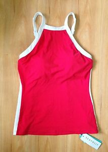 ca5eef6e6 NWT Seafolly Block Party High Neck Singlet Tankini Top Chili Red AU ...