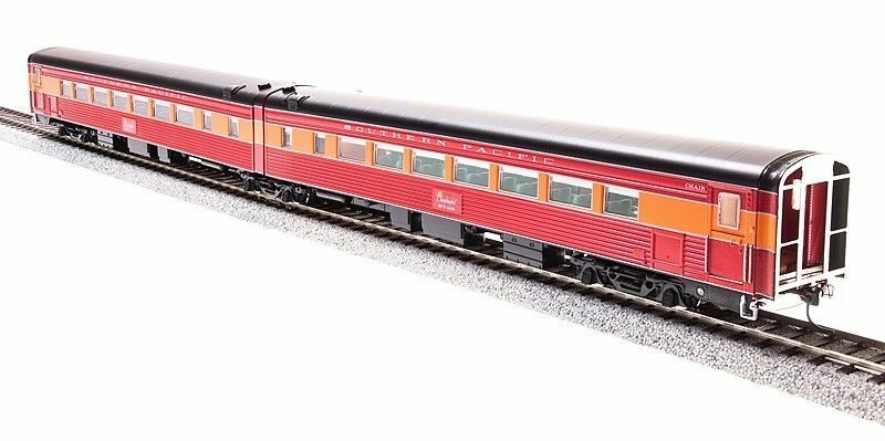 Broadway Limited 1581 HO SP Daylight Articulated Chair Passenger Cars  2470 Nuovo