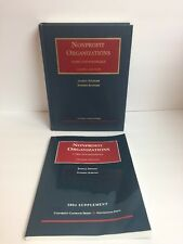 Fishman Nonprofit Organizations University Casebook Series 2nd Edition  Law Book