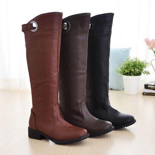 stivali stivaletti scarpe tacco 2 CM marrone nero comodi  simil pelle  9155
