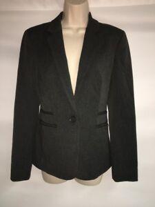 Express-Blazer-Jacket-Size-6-Womens-Charcoal-Gray-NWT