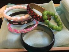 Vintage Job Lot Of 5 Bangles Lucite And Celluloid And Stretch 1 Bracelet