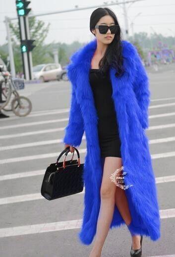 Oversize Women's Ladies Long Faux Fur Coat Long Lapel Coat Coat Coat Outwear Coat Size 413dee