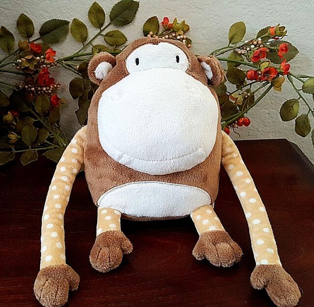 """2015 Circo Monkey by Target Mini Stuffed Plush Pillow Brown Polka Dots Zoo 7"""""""