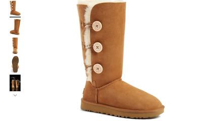 Uggs Bailey Button Triplet Sheepskin Mid Calf Boot