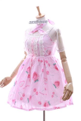 Cb-01 alla fragola strawberry Cherry STRETCH ROSA GOTHIC LOLITA abito costume cosplay
