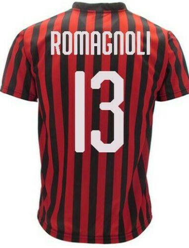Maglia calcio Ufficiale AC Milan ROMAGNOLI 2019-2020 ALESSIO N 13 ...
