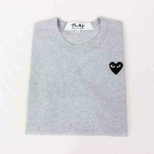 2020 NEW cotton  Play Littel Black Heart Comme Short Sleeve T-Shirt 4 colour