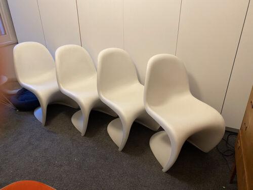 4 Genuine Vitra White Verner Panton Chairs