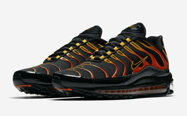 new style a0194 fc266 Nike Air Max 97 / Plus Size 9 Black Engine Shock Orange Ah8144-002