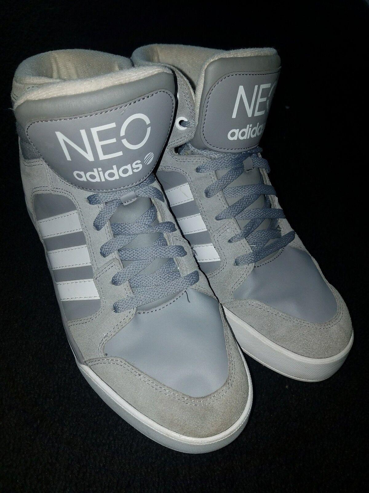 Gray and White Neo Adidas size 10.5 Seasonal price cuts, discount benefits