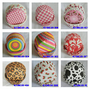 Multi Design Cupcake Liners baking paper cup muffin case ...