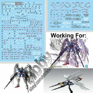For Mg 1 100 Wing Gundam Zero Ew Ver Ka D L Water Slide Decal Stickers Xxxg 00w0 Ebay