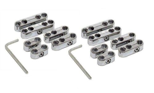 Spark Plug Wire Separators Dividers Looms Ignition 8mm 8.5mm 8.8mm 9mm CHROME
