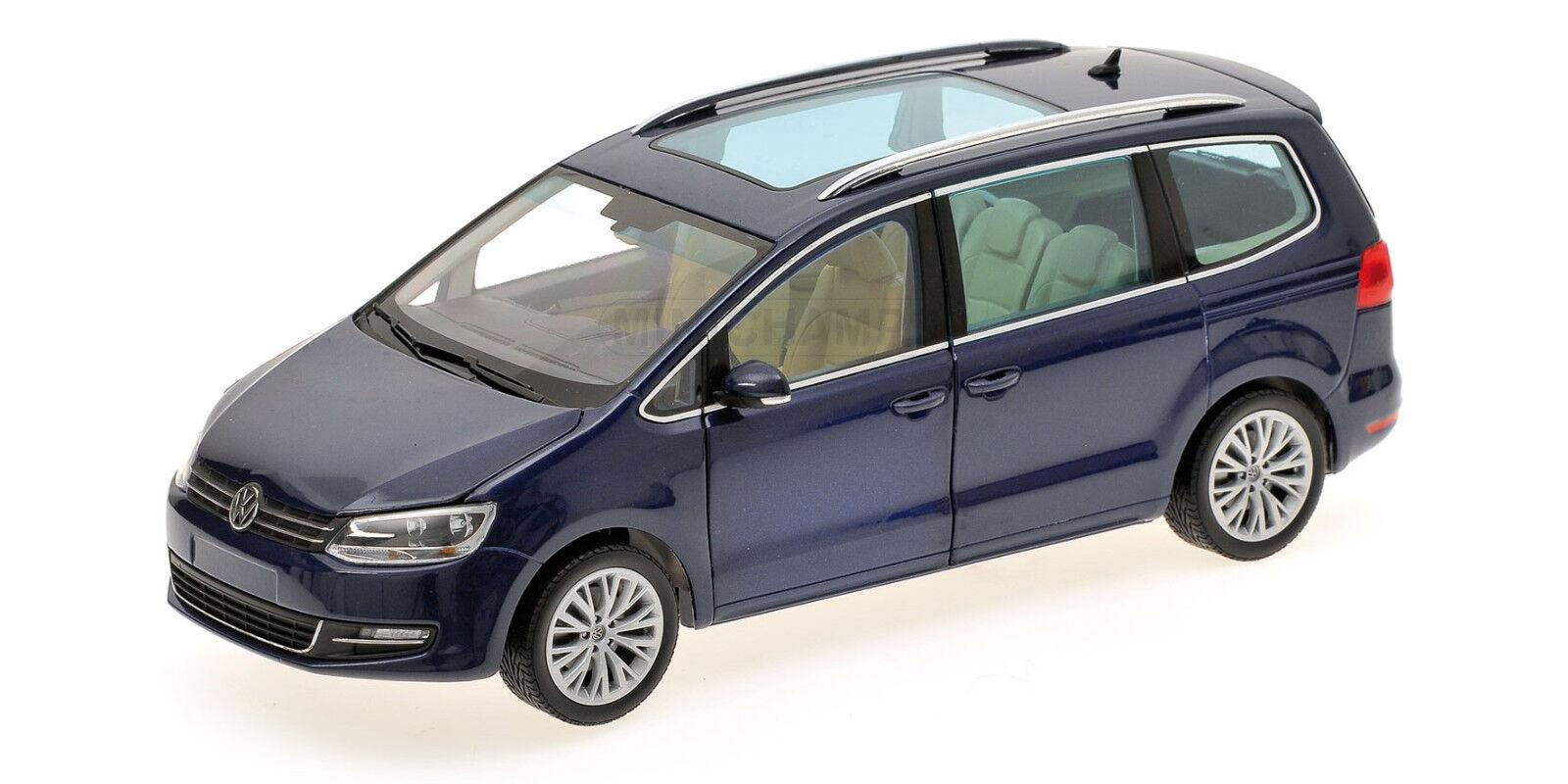 1 18 Volkswagen SHARAN 2010 bleu METAL l.E. 1002 MINICHAMPS 110051000 neuf dans sa boîte NEUF