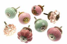 8 x Mixed Shabby Chic Cupboard Knobs Drawer Pulls Kitchen Knobs Handles (MG-08)