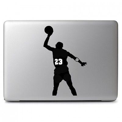 NBA NO.23 Jordan Vinyl Decal Sticker for Apple Macbook Air & Pro 13'' 15'' 17''