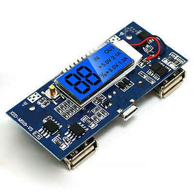 5V 2A Dual USB LCD all-in-one Boost Lithium ion Battery Charger Module