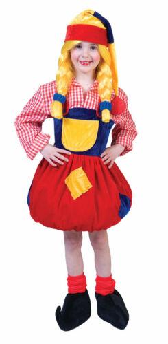 Zwerg Kostüm Kinder Zwergenkostüm Mädchen Zwergen-Mütze Karneval Fasching KK