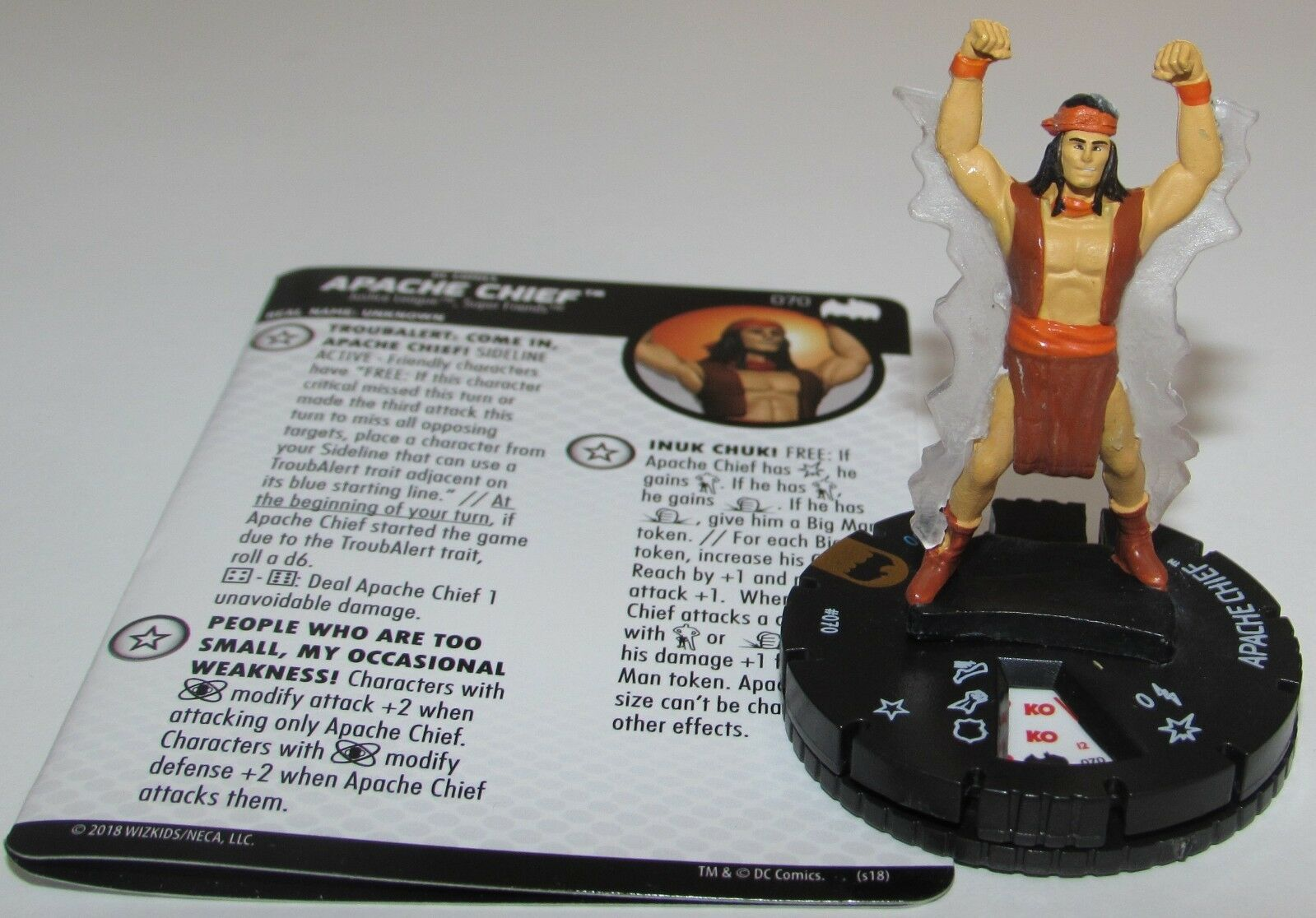 Apache Capo 070 Batman  The Animated Series Dc Heroclix Chase Raro