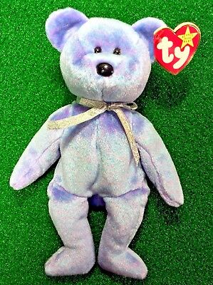 MWMT Free Shipping TY Beanie Baby CLUBBY II The BBOC Teddy Bear 1999 Retired