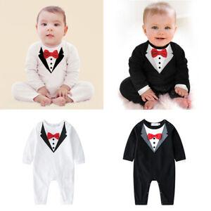 Newborn Kids Baby Boy Toddler Outfits Jumpsuit Romper Bodysuit Clothes Gentleman