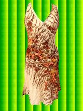 G577✪ Hippie Kleid 60er 70er Jahre Vintage Blumen Festival Erdtöne Gr. 40