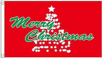 Flag 150cm x 90cm Christmas Tree Scene Celebration 5ft x 3ft