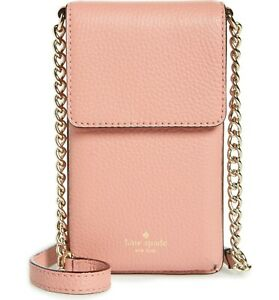 separation shoes 270ed 7c0cf NEW Kate Spade North South Crossbody Pink Leather iPhone X Case, ALL ...