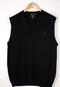 GANT-Men-Extrafine-Merinowool-Knit-Vest-Gillet-Waistcoat-Size-XL-ATZ937