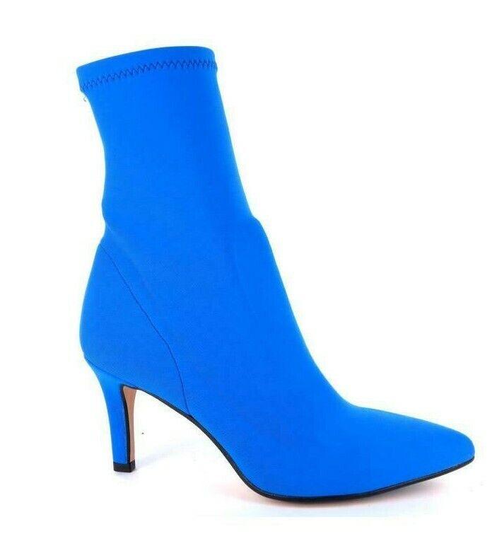 zapatos mujer botas STIVALETTI ELASTICIZZATI A CALZA art 5015 col azul TACCO 7