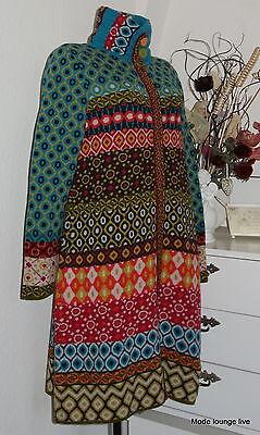 IVKO Mantel Merino-Wolle wool Coat Long-Jacket blau beige anthracite 62602