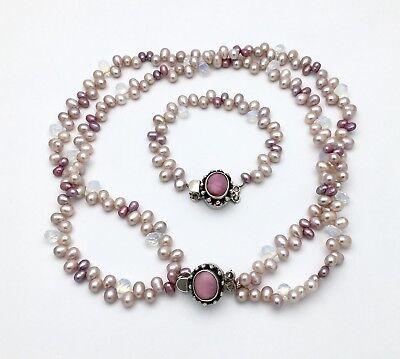 Solid Silver Fresh Water Pearl//Mother Pearl//Peridot Bracelet